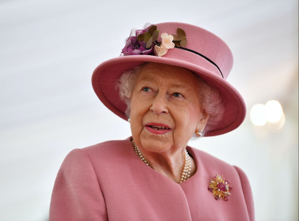 <p>Queen Elizabeth II speaks with staff during a visit to the Defence Science and Technology Laboratory</p>
