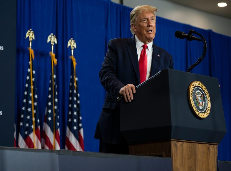 """El presidente ha arremetido contra la familia Biden, a la cual ha pintado como una """"corrupta"""""""