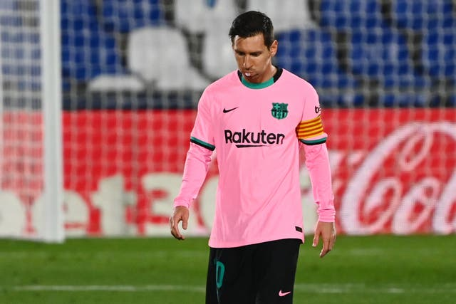 Lionel Messi could not stop his side slipping to defeat