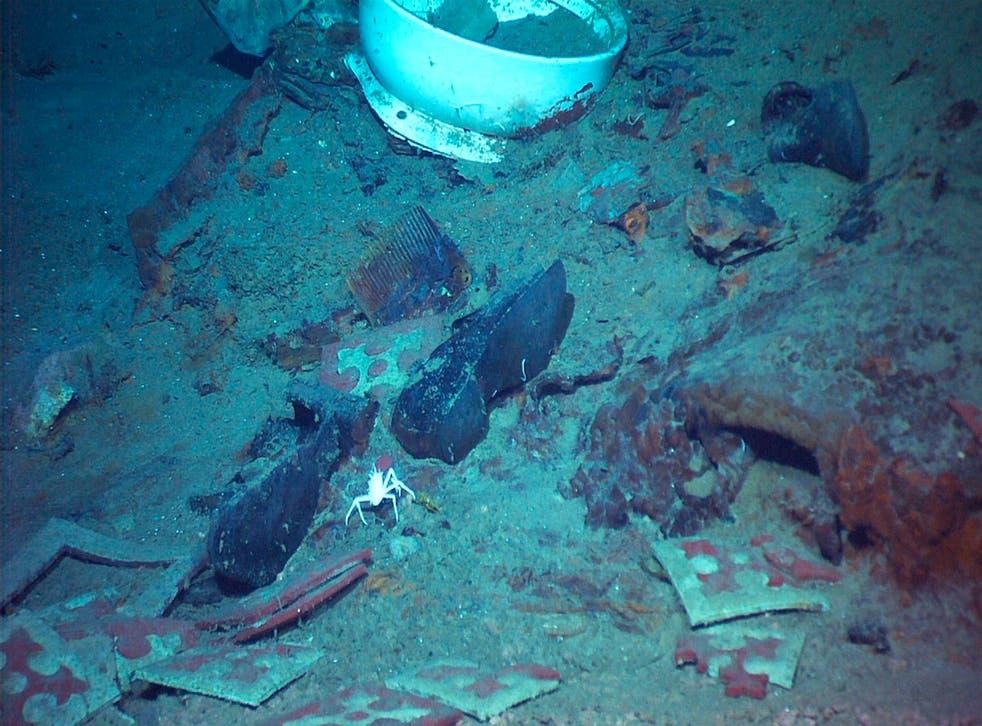 Artefactos del Titanic.
