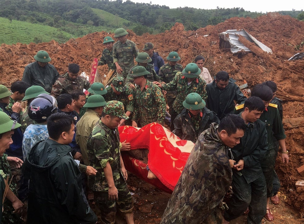 Vietnam landslide hits army barracks and kills 14 | The Independent