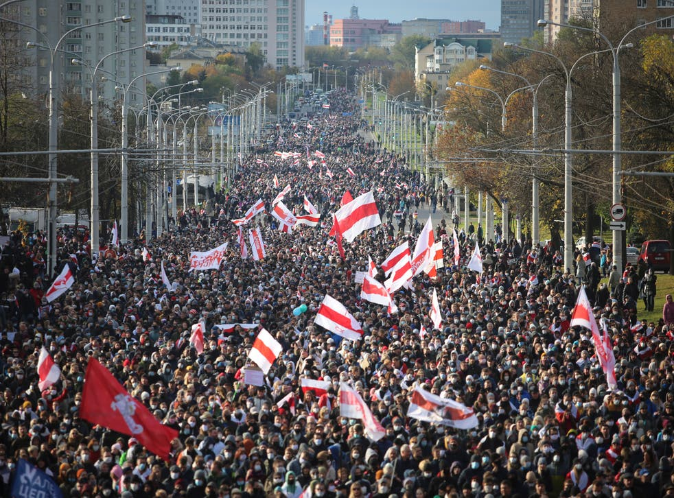 Belarus has seen a number of large demonstrations in recent months