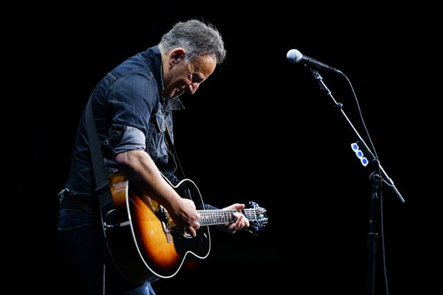 Springsteen on stage in 2019