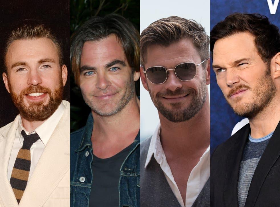 The four canonised Hollywood Chrises: Evans, Pine, Hemsworth and Pratt