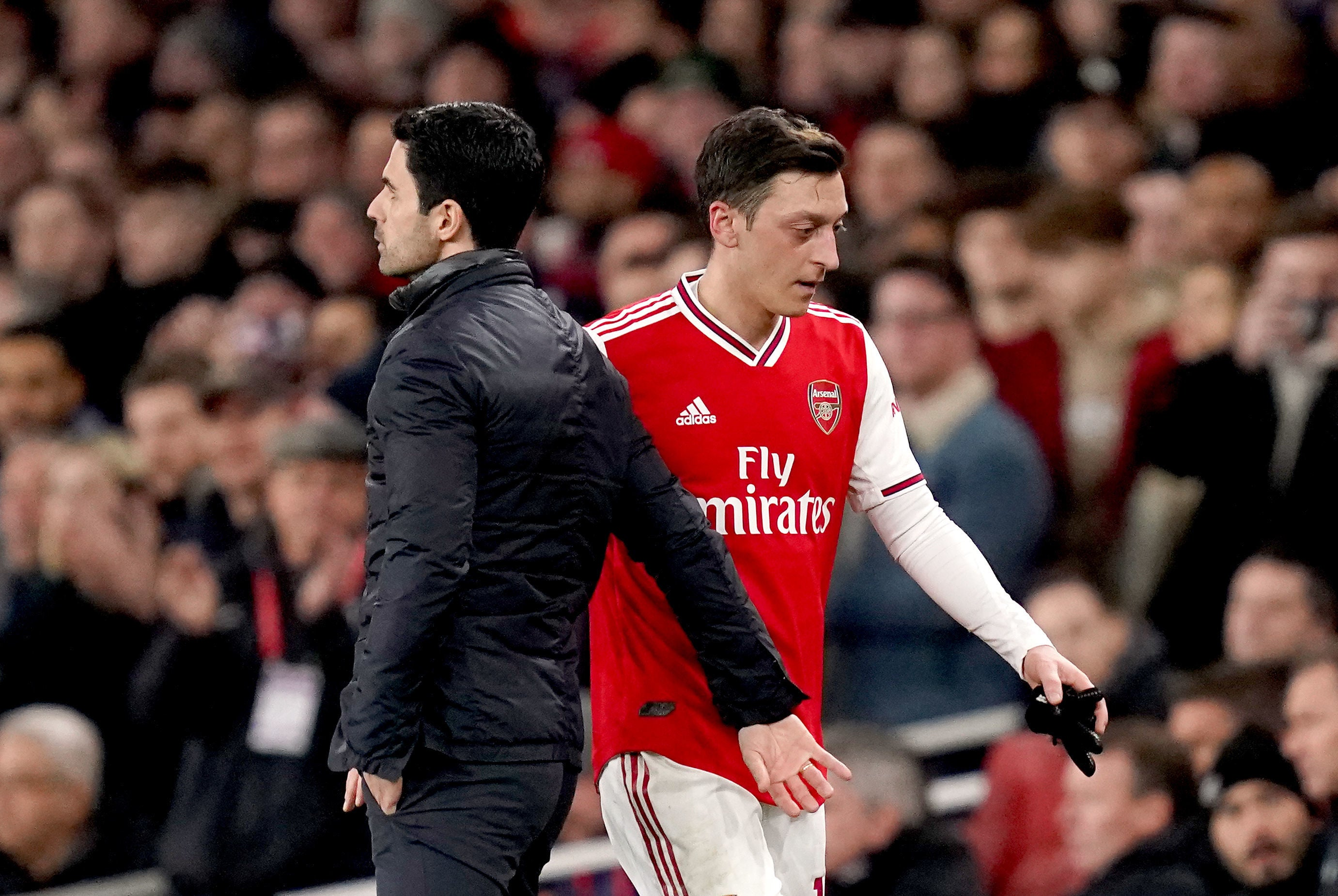 Mesut Ozil dropped from Arsenal's Premier League squad for 'football reasons', insists Mikel Arteta