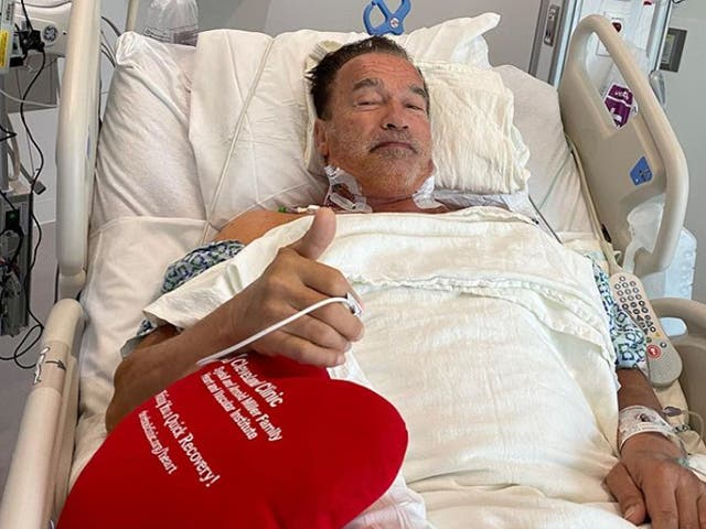 Arnold Schwarzenegger is recovering after heart surgery
