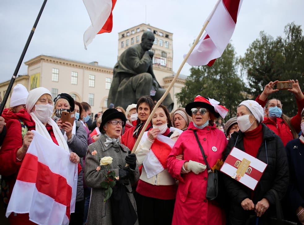 Protestas en Bielorrusia.