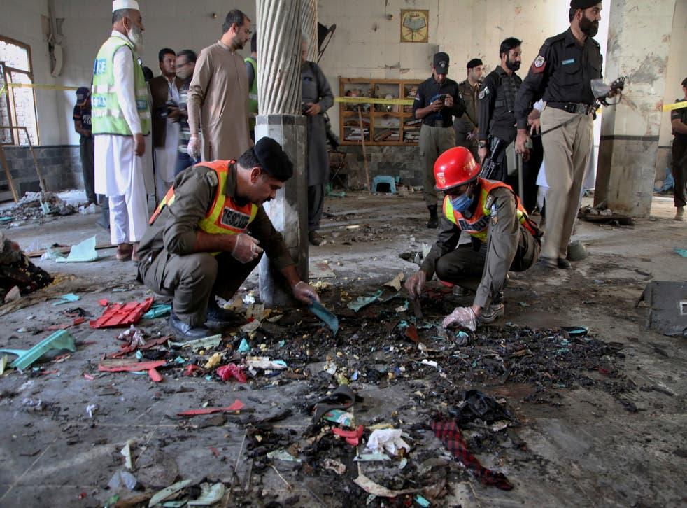 Bombardeo del seminario de Pakistán