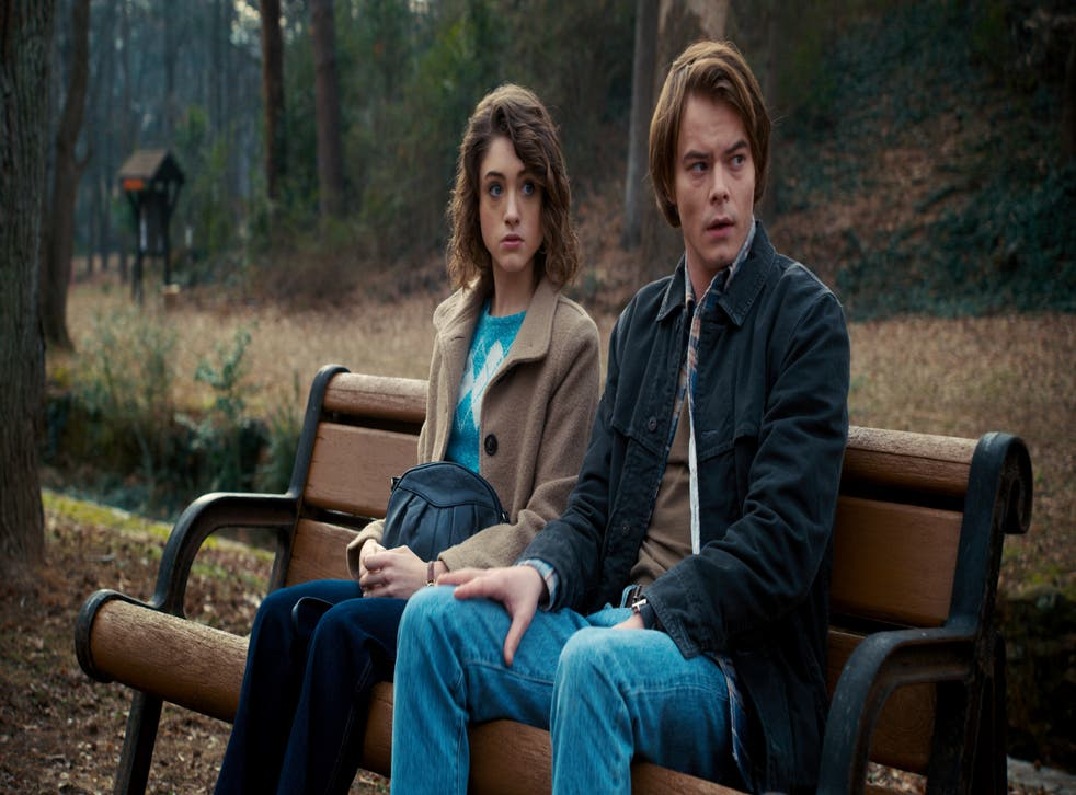 Dyer (left) and Charlie Heaton in Netflix's 'Stranger Things'