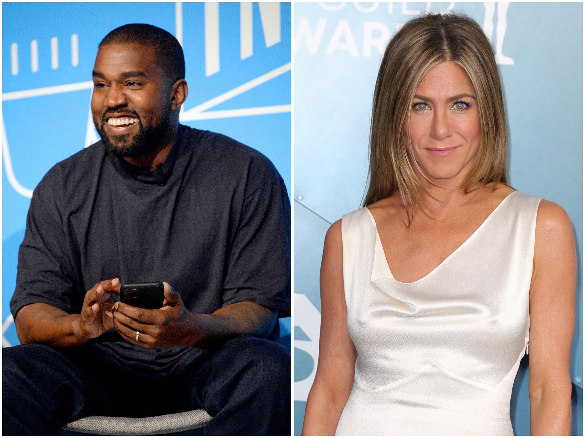 Kanye West responds after Jennifer Aniston urges fans not to vote for rapper