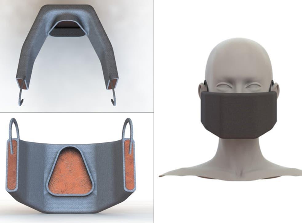 El equipo de investigadores espera desarrollar máscaras que incorporen una malla de cobre calentada.