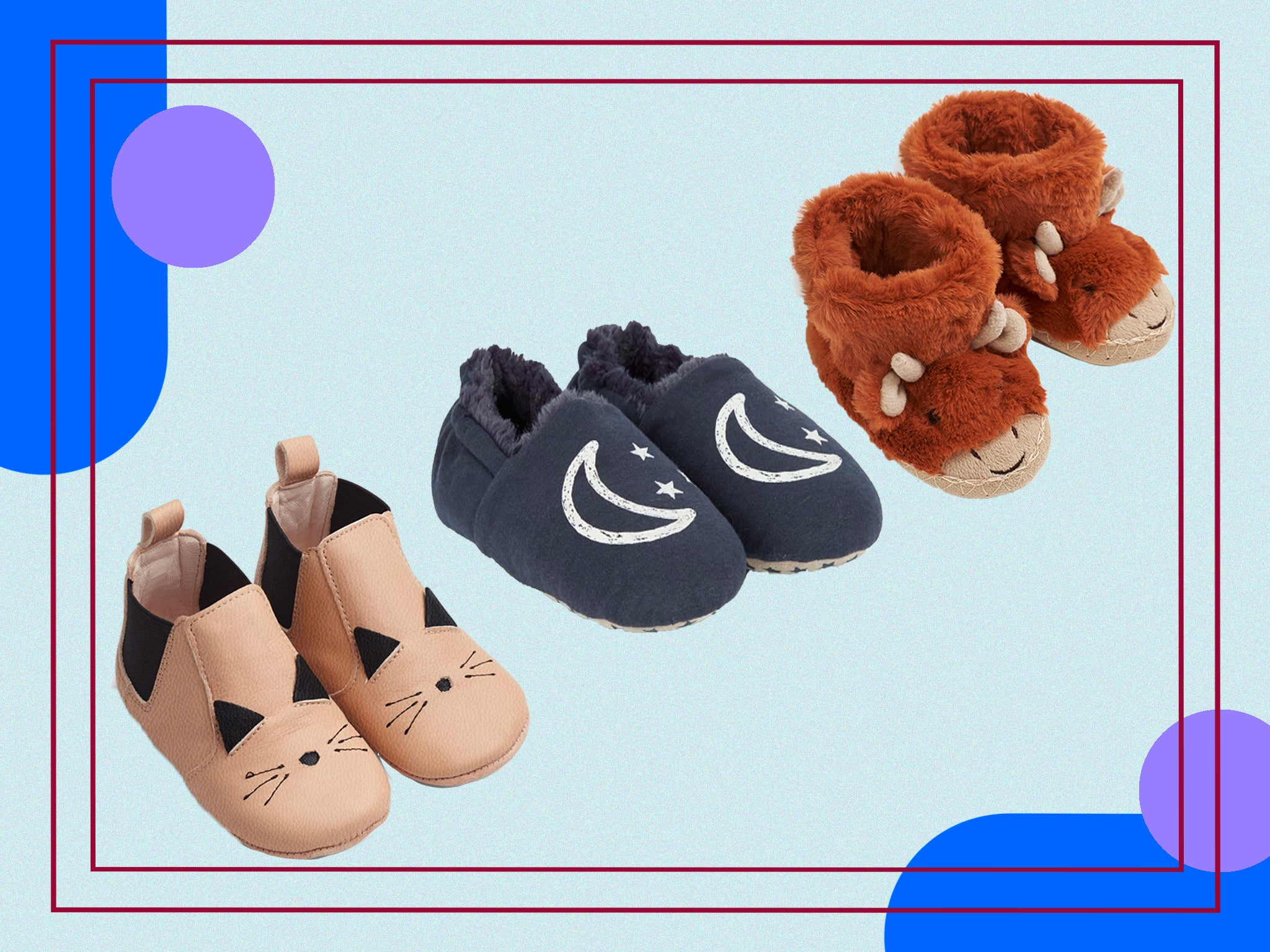 Shoes for Girls Kids Nursery Spring Summer Slippers LEATHER Insole Size UK 3–7