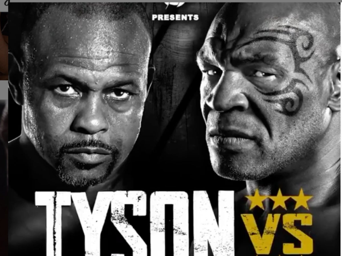 mike tyson vs roy jones jr what time is heavyweight fight and how can i watch on tv or live stream the independent mike tyson vs roy jones jr what time