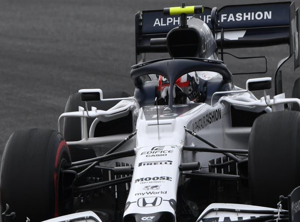 El piloto de AlphaTauri Pierre Gasly durante el Gran Premio de Portugal de Fórmula.