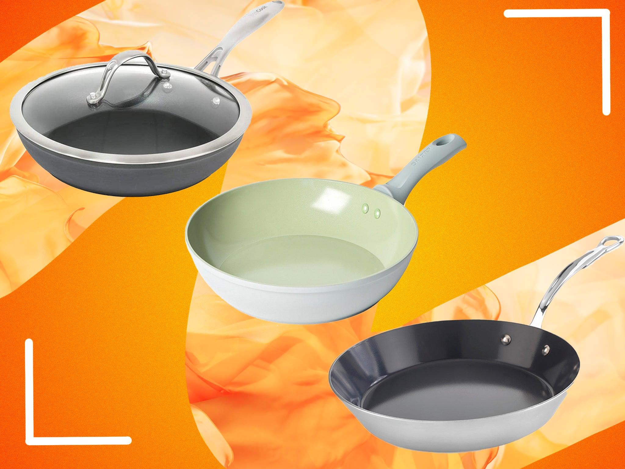 28cm Deep Saute Pan Lidded Non Stick Ceramic Coated Induction Pot Cooking Frying