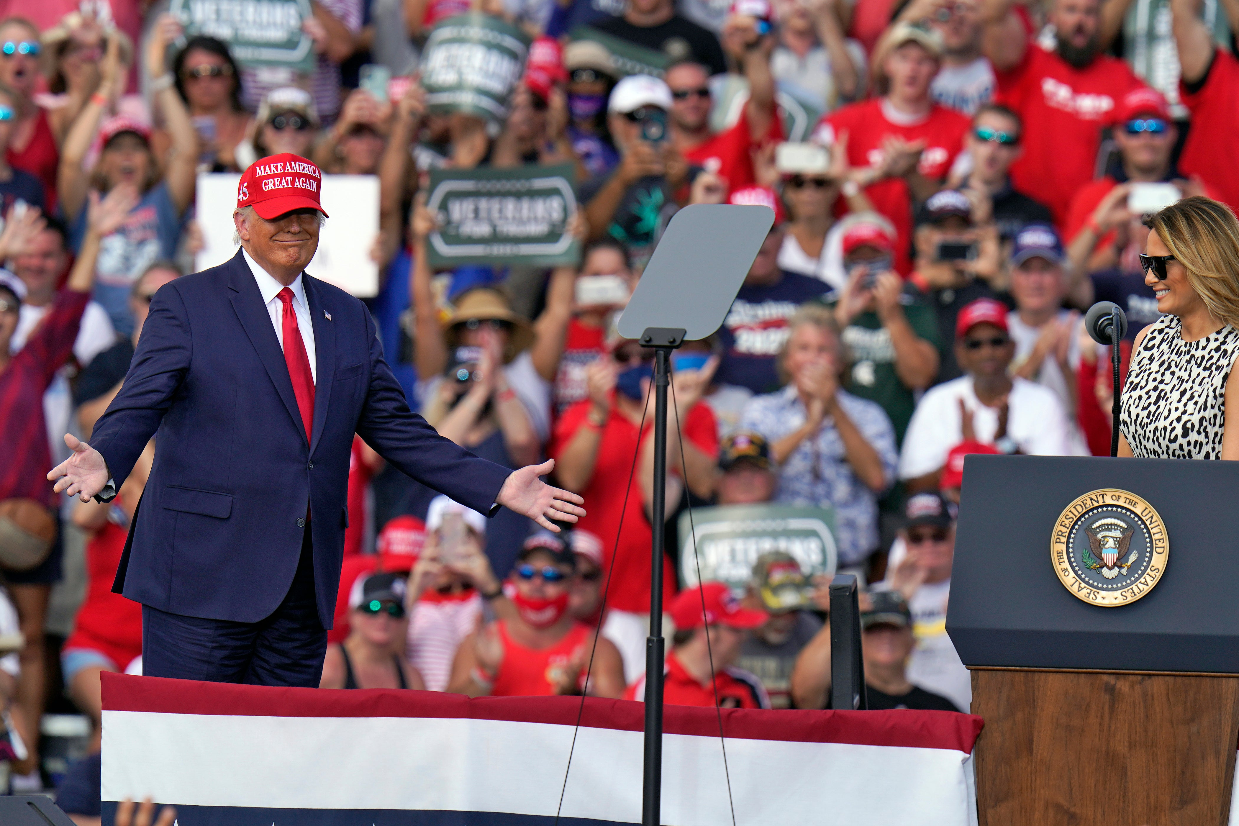 As Covid surges, Trump rallies continue to pack in thousands: 'I'm not afraid at all'