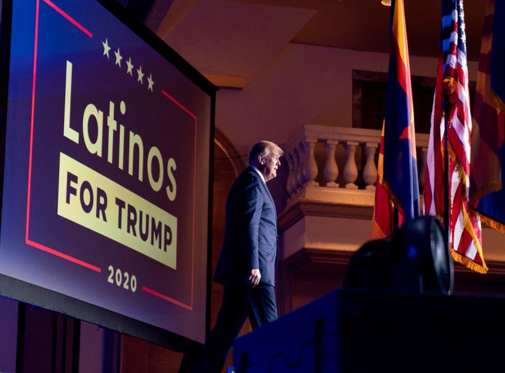 US Election 2020 Trump Latinos