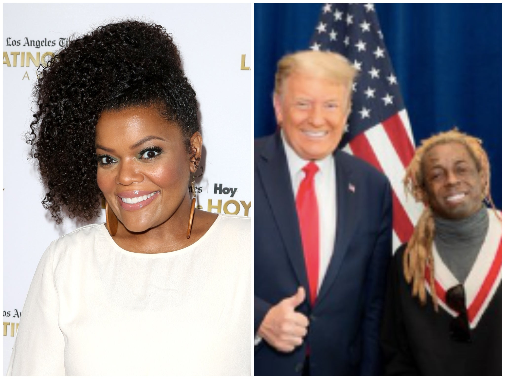 Lil Wayne: Community star Yvette Nicole Brown calls out rapper for posting photo smiling alongside Trump