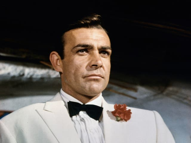 <p>Style and substance: as the secret agent in 1964's 'Goldfinger'</p>
