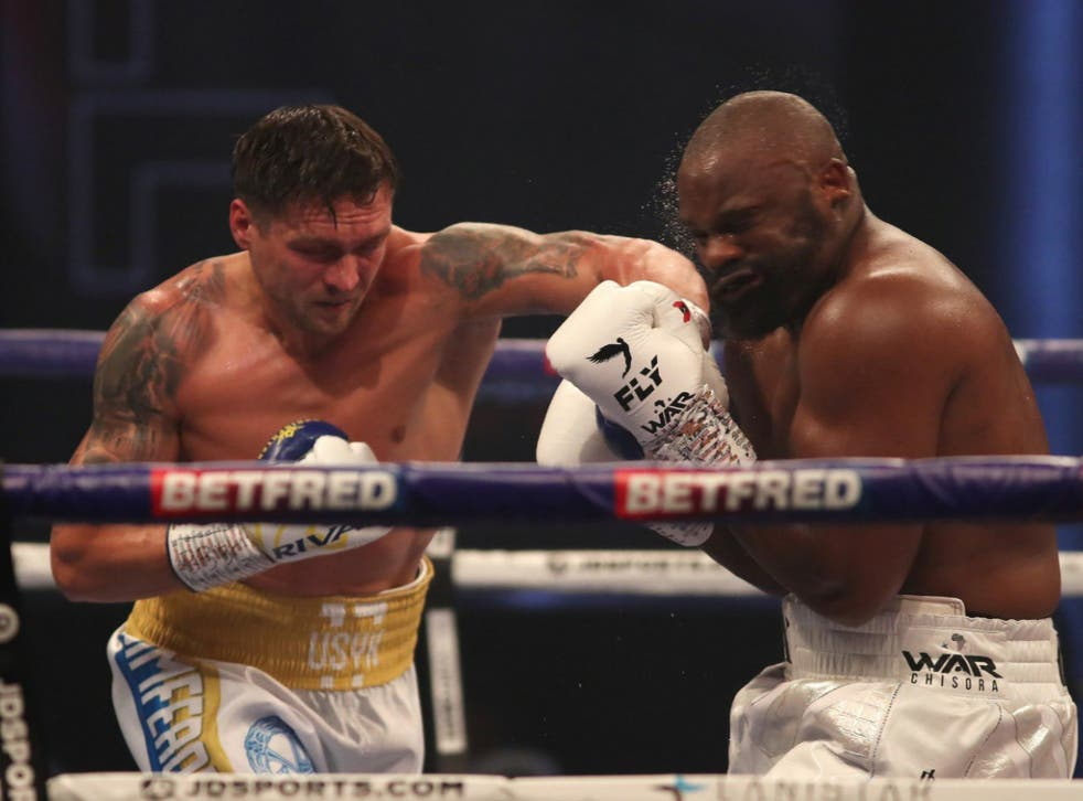 Usyk was pushed hard by Chisora