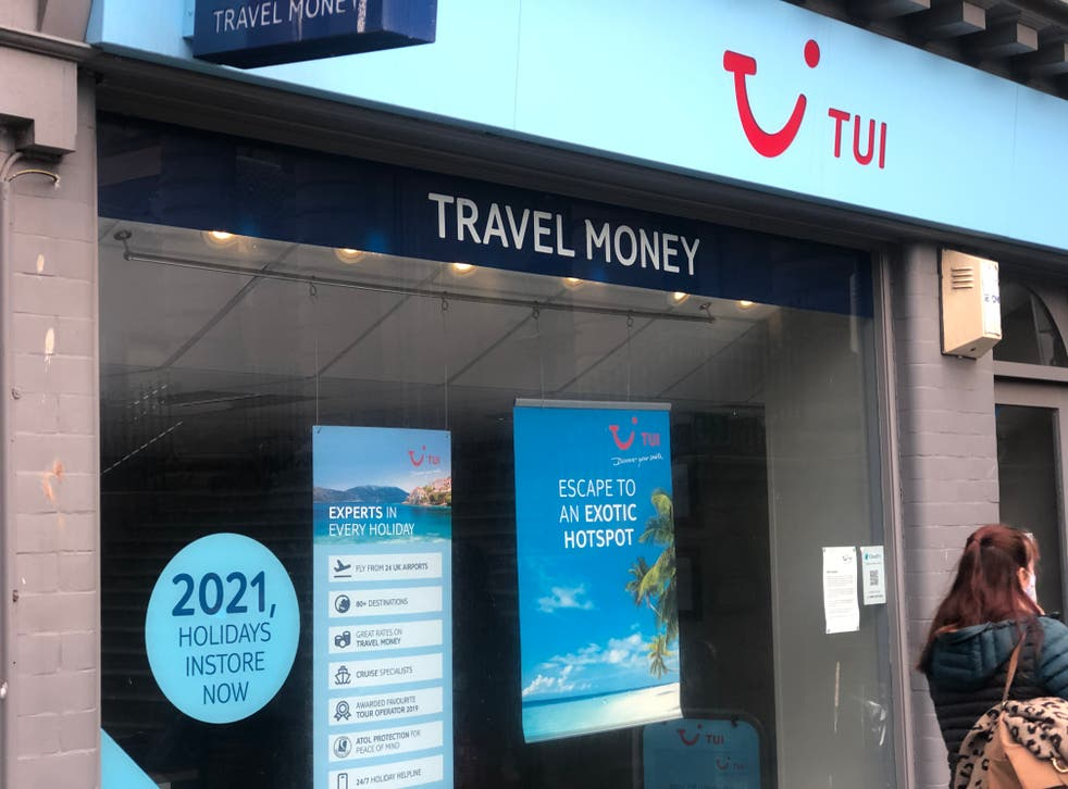 Going nowhere: a closed Tui travel agency in Berwick-upon-Tweed