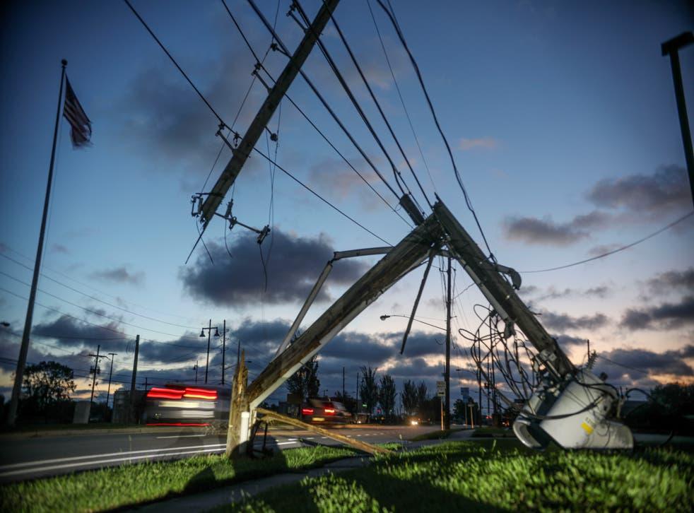 <p>Daños causados por las tormentas del Huracán Zeta en Louisiana.</p>