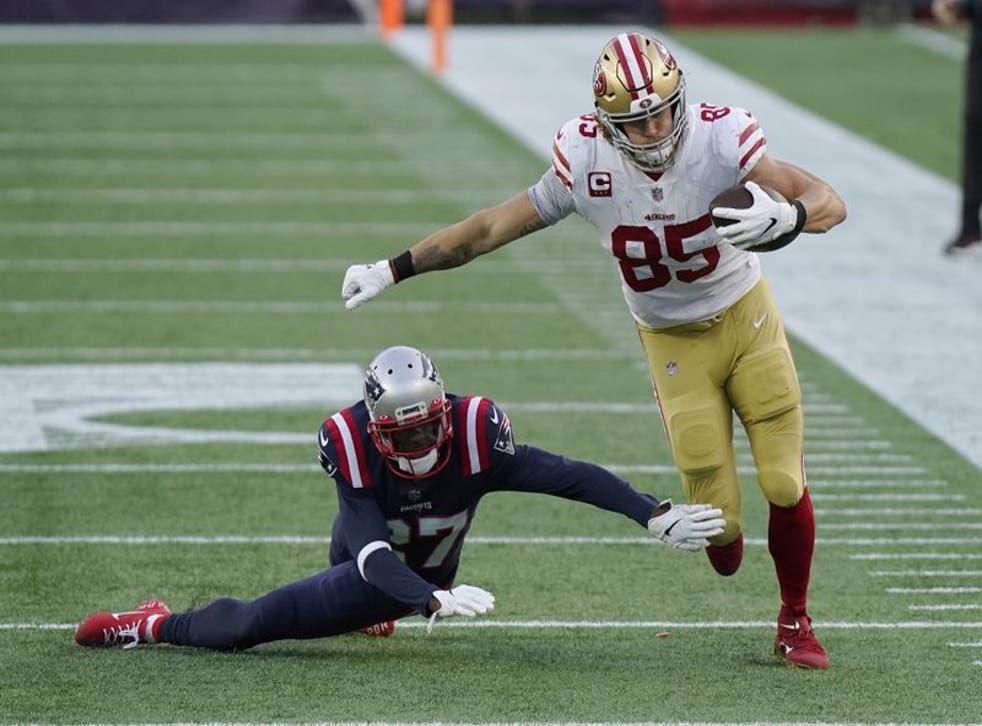 El tight end de los 49ers de San Francisco brilló  en la victoria sobre los 'Pats'.