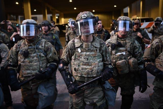 <p>Las tropas de la Guardia Nacional</p>