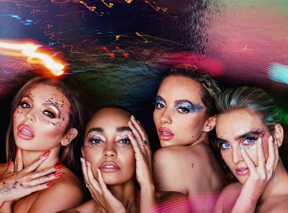 <p>Little Mix in cover art for 'Confetti'</p>