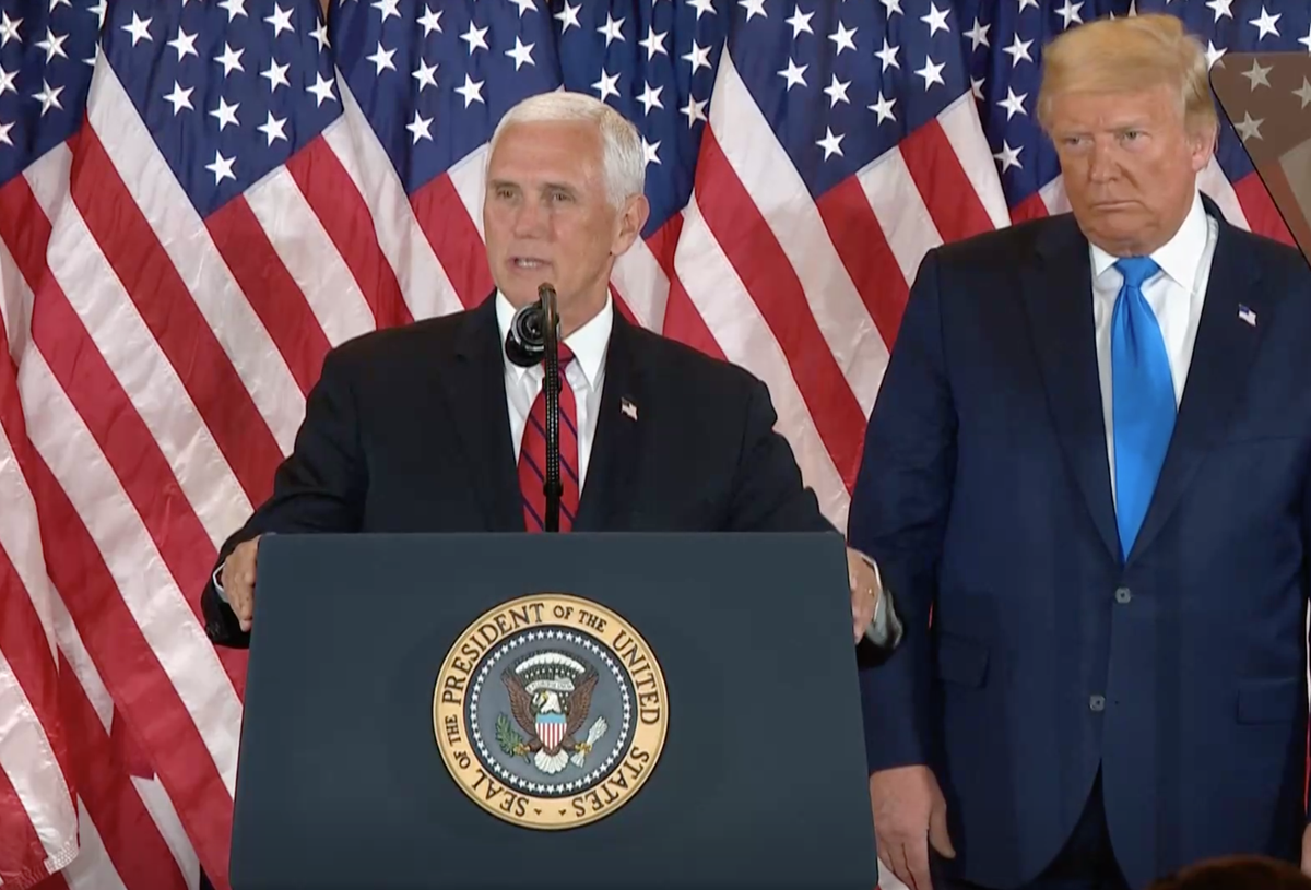 Pence breaks silence to take credit for Pfizer vaccine - and drugs company immediately denies Trump involved