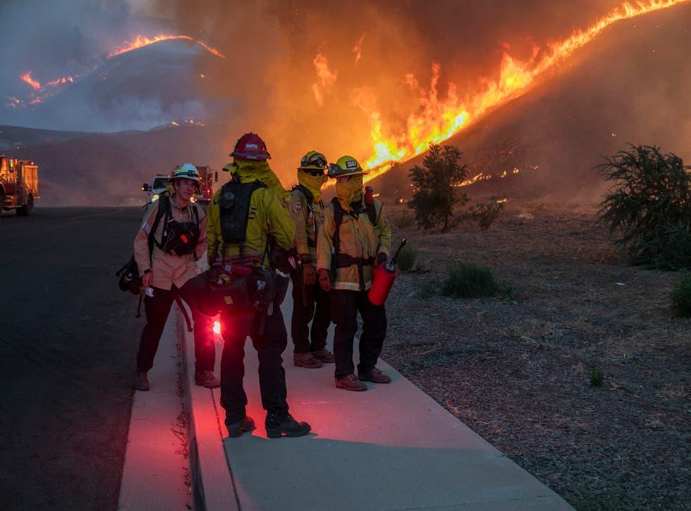 <p>Incendios forestales en California.</p>
