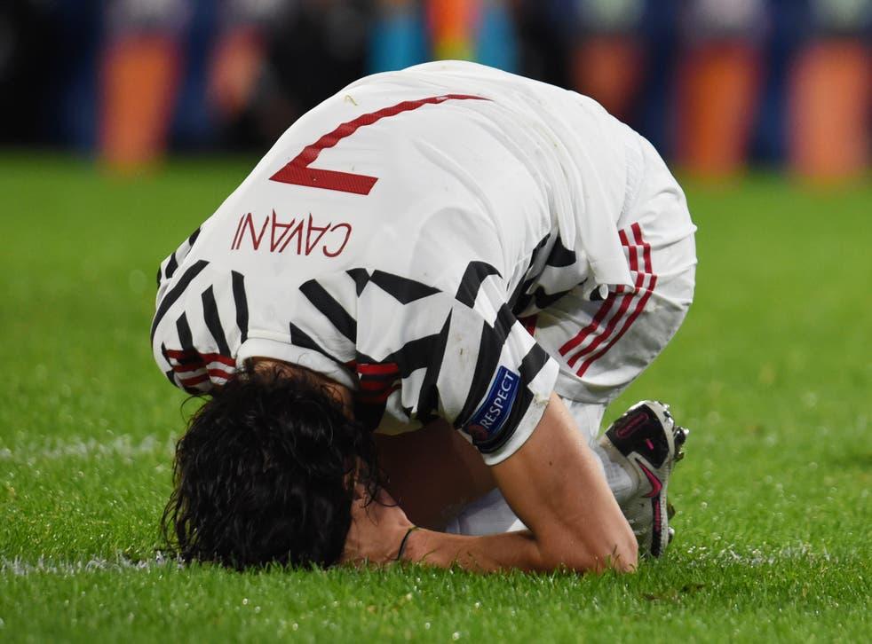 <p>Manchester United striker Edinson Cavani</p>
