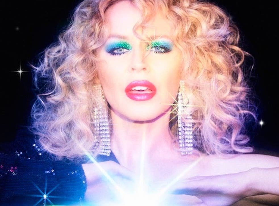 <p>Kylie Minogue in album artwork for 'Disco'</p>
