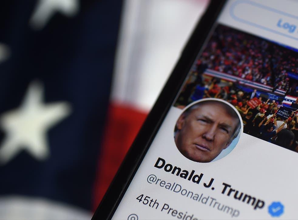 <p>Trump twitter account</p>