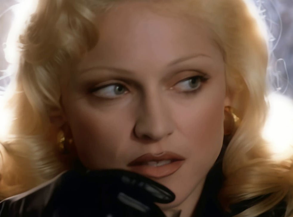 Madonna in the David Fincher-directed music video for 'Bad Girl'