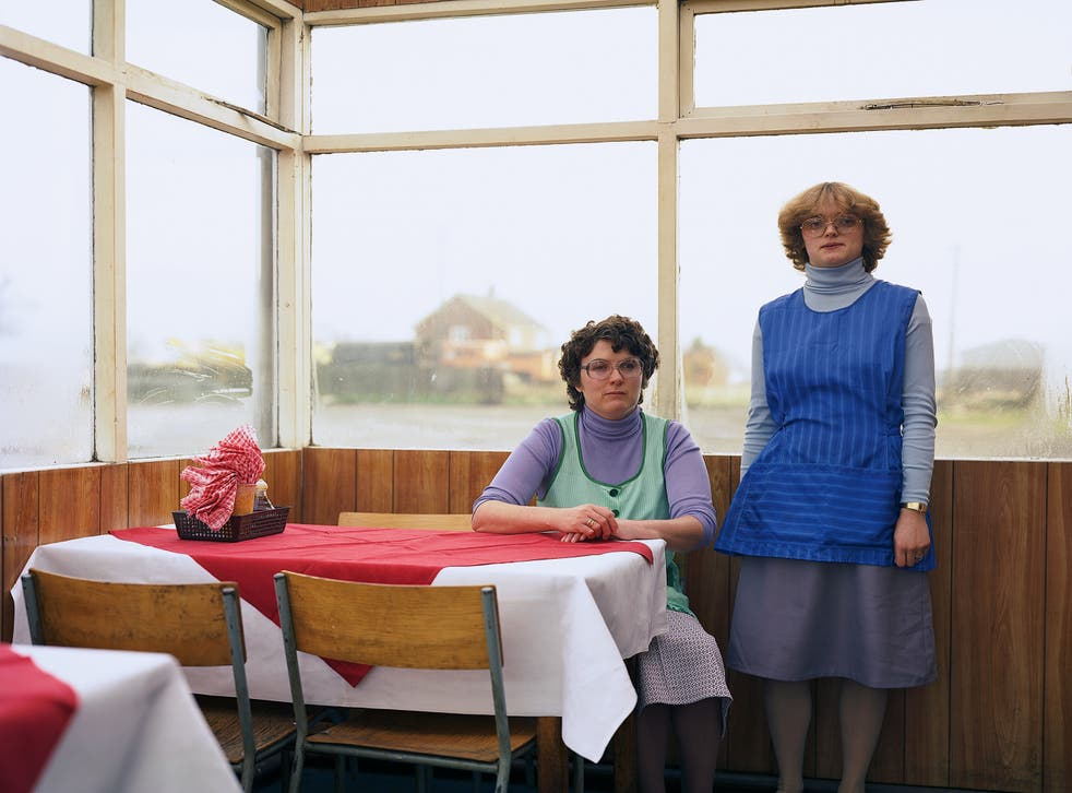 Cafe Assistants, Compass Cafe Colsterworth, Lincolnshire, November 1982