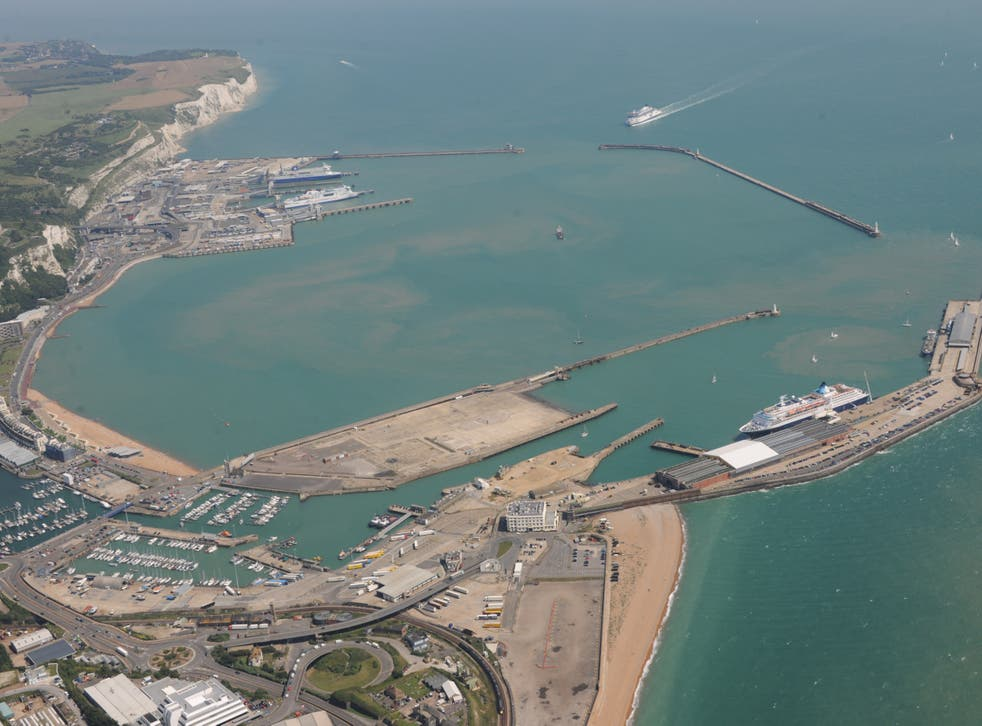 Waiting game: Dover is the main ferry link to France
