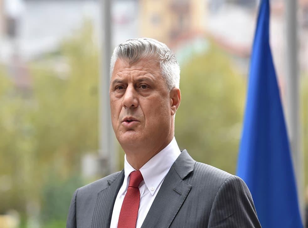 <p>Hashim Thaci, presidente de Kosovo.</p>