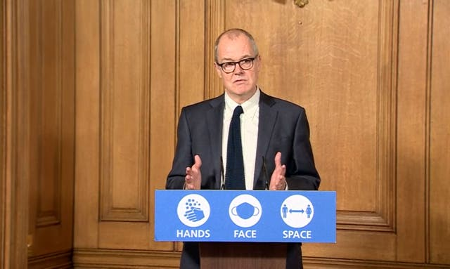 Sir Patrick Vallance at a 10 Downing Street press conference on 31 October