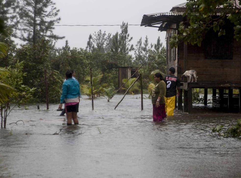 Damage caused Hurricane ETA, on the north Caribbean coast in Bilwi, Nicaragua,