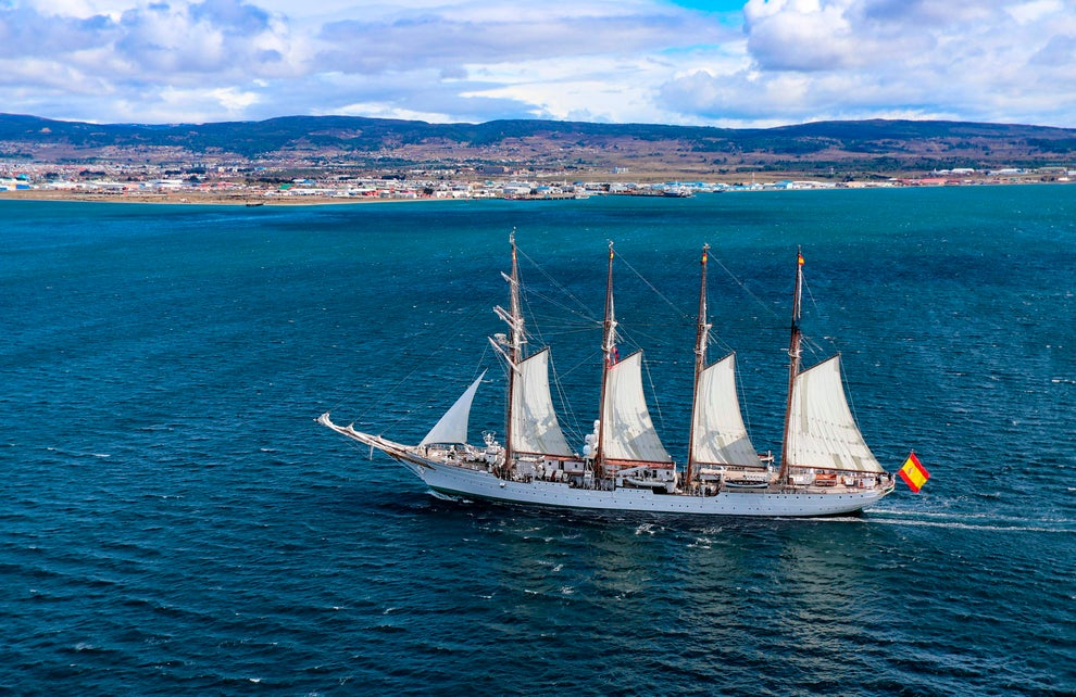 The Spanish navy training ship Juan Sebastian de Elcano