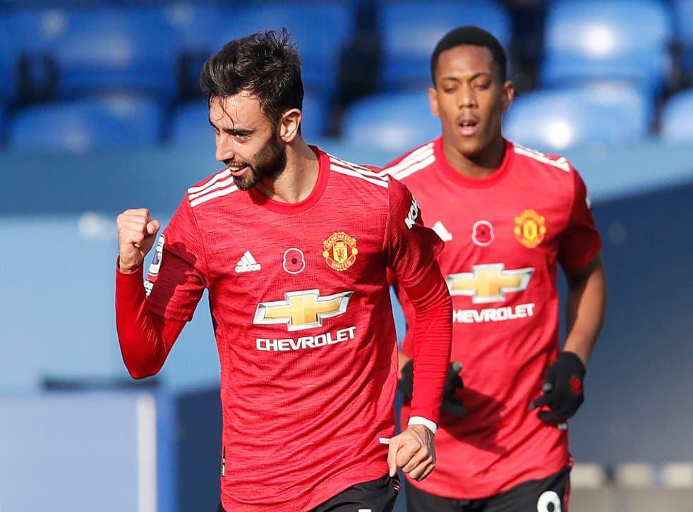 <p>Fernandes participó en los tres tantos del United</p>