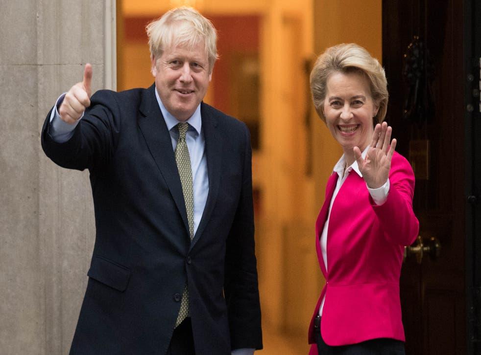 Boris Johnson has held phone talks with European Commission president Ursula von der Leyen