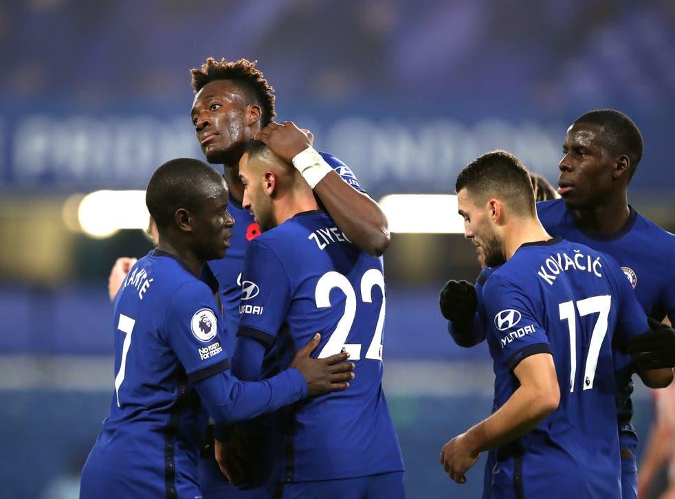 Tammy Abraham celebrates after scoring Chelsea's equaliser