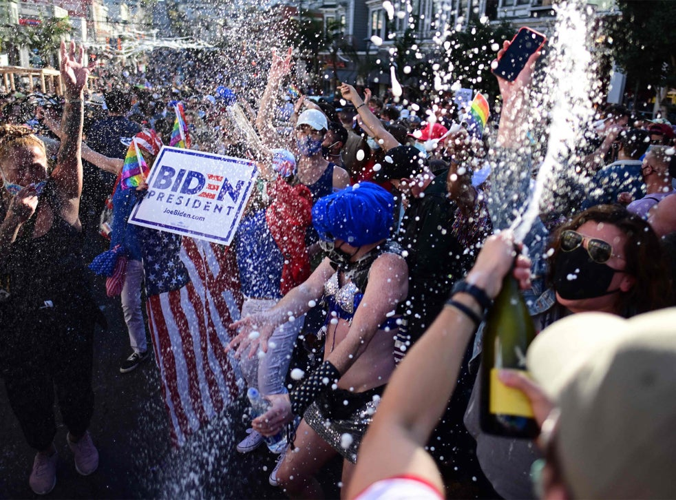 US election: Celebrations in cities across America after Joe Biden becomes  president-elect | The Independent