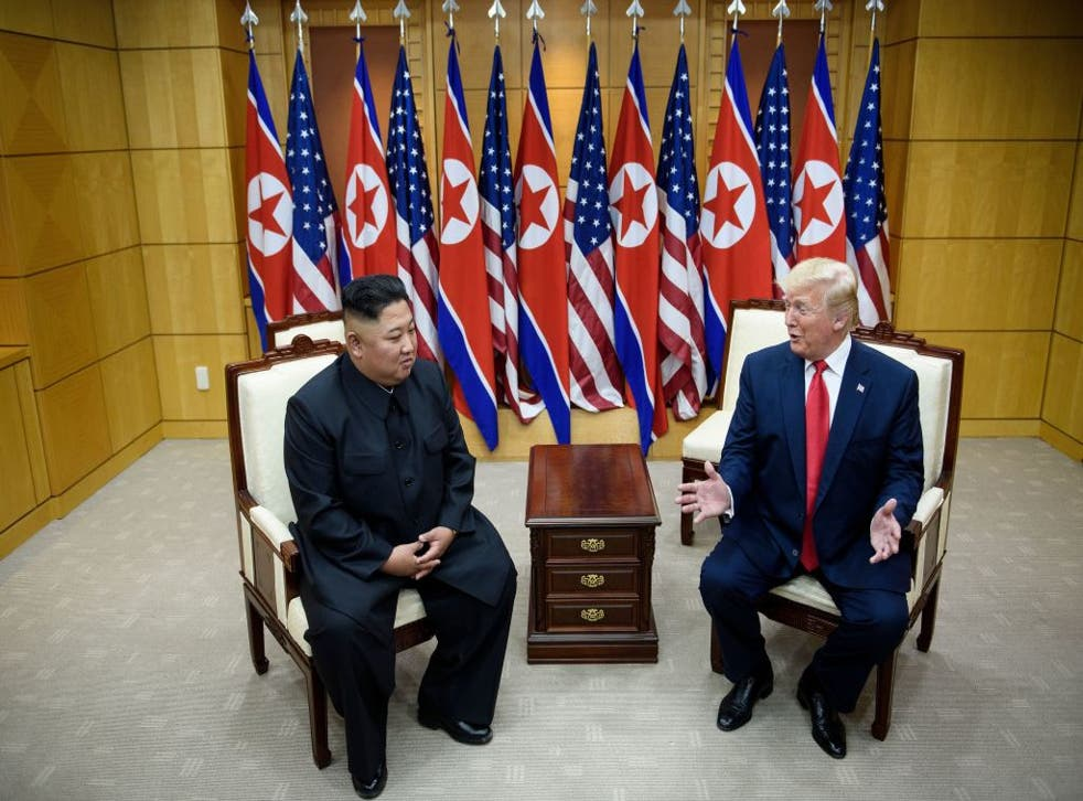 <p>The meeting between Kim Jong-un and Trump in Panmunjom, North Korea, was one of many extraordinary stories reporters have covered over the past four years</p>