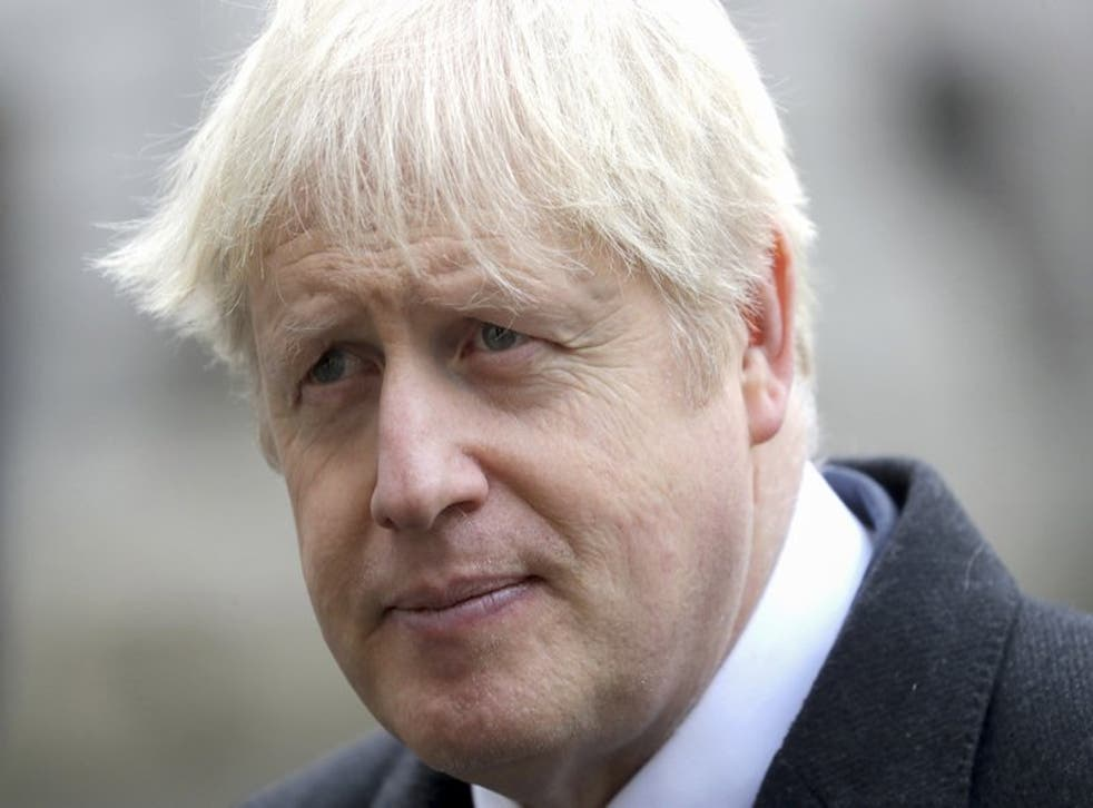 El primer ministro británico Boris Johnson durante un evento en Whitehall, Londres, el domingo 8 de noviembre de 2020.