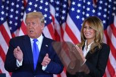 Melania Trump respalda la teoría de fraude electoral de su esposo