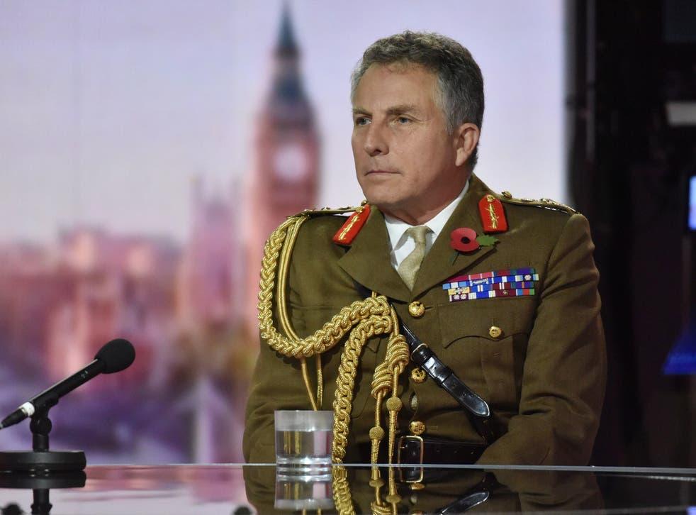 <p>El general Sir Nick Carter apareció en el programa Andrew Marr de la BBC.</p>