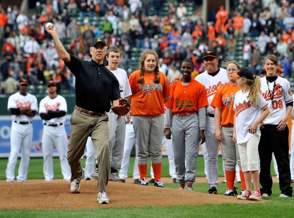 Nationals Biden First Pitch Baseball